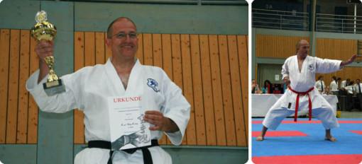 Landesmeister BW Sensei Karl-Hans König, 6. Dan Karate 2. Dan Kobudo