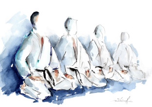 Budocenter Karate Aquarell Gyaku Tski